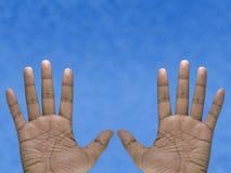 Twee Handen Stock Foto's