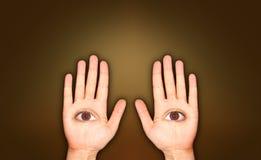 Twee handen vector illustratie
