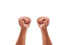 Twee handen kruisen vingers Stock Foto