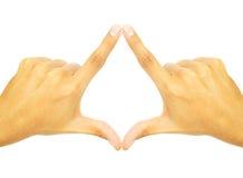 Twee handen smolten samen om een symbool te vormen Royalty-vrije Stock Afbeelding