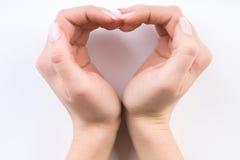 Twee handen van een dame Stock Afbeeldingen