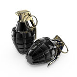 Twee handgranaten Royalty-vrije Stock Afbeelding