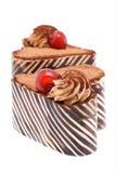 Twee hart gevormde cakes Stock Foto's