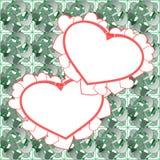 Twee hart vectorontwerp als achtergrond Royalty-vrije Stock Afbeelding