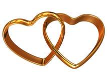 Twee hart-vormige ringen stock illustratie