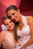 Twee hartelijke vrouwen Stock Foto