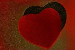 Twee harten Stock Foto's