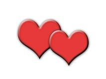 Twee harten.! Stock Foto