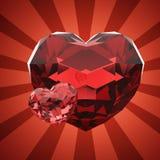 Twee harten Royalty-vrije Illustratie