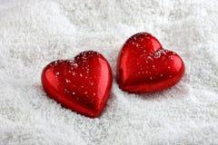 Twee harten stock fotografie