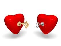 Twee harten. Royalty-vrije Stock Afbeeldingen