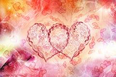 Twee harten samen Royalty-vrije Stock Afbeelding