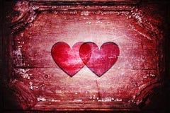 Twee harten samen Royalty-vrije Stock Foto