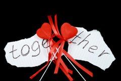 twee harten samen Stock Foto