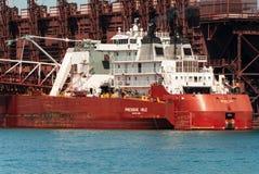 Twee Havensschepen royalty-vrije stock afbeelding