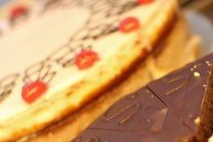 Twee heerlijke cakes Stock Afbeeldingen
