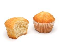 Twee heerlijke muffins Stock Foto's
