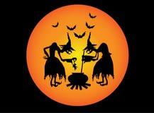 Twee heksen Royalty-vrije Stock Afbeelding