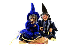 Twee heksen Stock Foto's