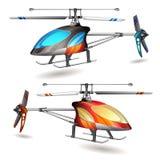 Twee helikopters Royalty-vrije Stock Afbeeldingen