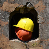 Twee helmen Stock Fotografie