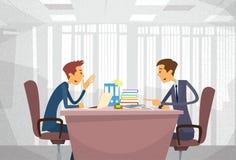 Twee het Bedrijfsmens Spreken het Bespreken Royalty-vrije Stock Afbeelding
