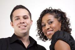 Twee het glimlachen gezichten Royalty-vrije Stock Foto's