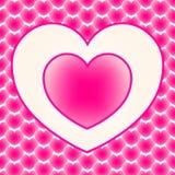 Twee het houden van harten onder veel andere harten De dag van de valentijnskaart royalty-vrije illustratie