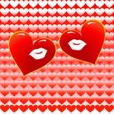Twee het houden van harten samen stock illustratie