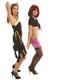Twee het jonge modellen dansen Royalty-vrije Stock Afbeeldingen