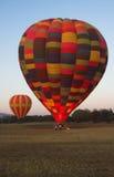 Twee hete luchtballons Royalty-vrije Stock Fotografie