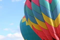 Twee hete luchtballons Stock Afbeeldingen