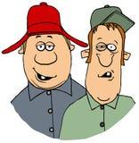 Twee hillbilly mensen vector illustratie