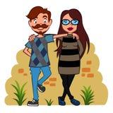 Twee hipsters royalty-vrije illustratie