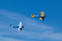 Twee historisch vliegtuig, Madrid Royalty-vrije Stock Afbeeldingen