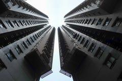 Twee hoge stijgingsgebouwen Royalty-vrije Stock Afbeeldingen