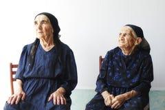 Twee hogere vrouwen Stock Foto
