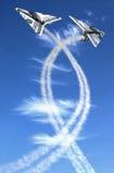 Twee honderd vliegtuigen Stock Foto's