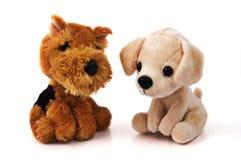 Twee hondspeelgoed stock afbeelding