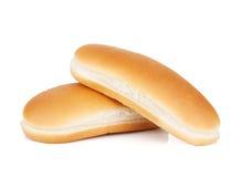Twee hotdogbroodjes Stock Foto's