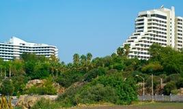 Twee hotels op de heuvel Royalty-vrije Stock Foto
