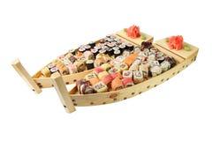 Twee houten schepen met broodjes Stock Foto's