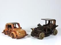 Twee Houten Toy Car Royalty-vrije Stock Foto's