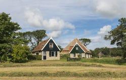 Twee Huizen op Texel Royalty-vrije Stock Afbeeldingen
