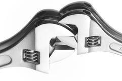 Twee hydraulische moersleutels Royalty-vrije Stock Fotografie