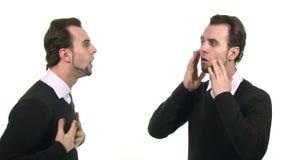 Twee identieke zakenlieden stock videobeelden
