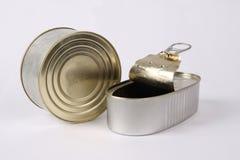 Twee ingeblikt voedsel Stock Afbeelding