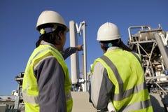 Twee ingenieursmacht en energie Royalty-vrije Stock Fotografie