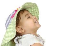 Twee-jaar-oud meisje met hoed Royalty-vrije Stock Fotografie