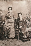 Twee Japanse Vrouwen Stock Foto
